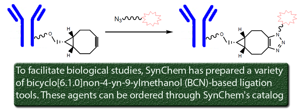 bicyclo[6.1.0]non-4-yn-9-ylmethanol (BCN)-based ligation tools